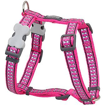 Rode Dingo Harness One Touch reflecterende Fuchsia