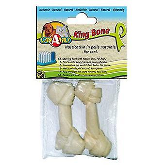 Король Nayeco кости собаки кость белого узел 15 см (собак, лакомства, кости)