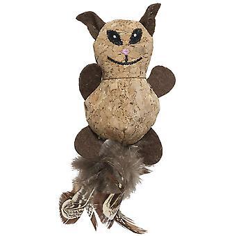 Ica 猫コルク (猫、おもちゃ、ぬいぐるみ・羽のおもちゃ)