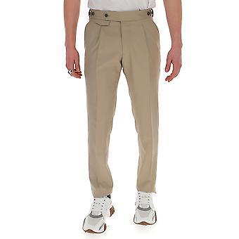 Lardini Eiporto3ei54070200 Men's Beige Cotton Pants