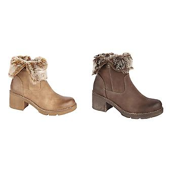 Cipriata Womens/Ladies Faux Fur Zip Ankle Boot