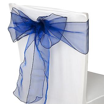 17cm x 274cm Organza Table Runners Wider et Fuller Sashes Navy Blue