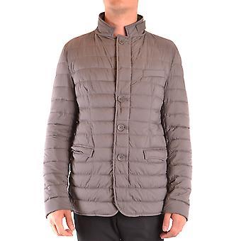 Herno Ezbc034049 Men's Grey Nylon Outerwear Jacket