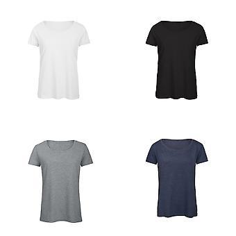 B&C Womens/Ladies Favourite Cotton Triblend V-Neck T-Shirt