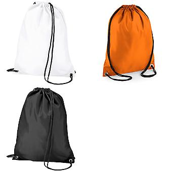BagBase Budget Water Resistant Sports Gymsac Drawstring Bag (11 Litres) (Pack of 2)