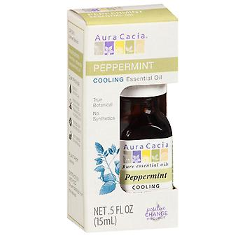 Aura cacia essential oil, peppermint, 0.5 oz