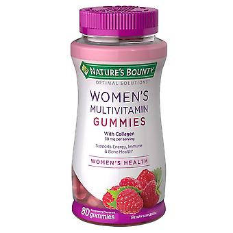 Nature's bounty women's multivitamingummies, framboos, 80 ea