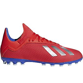 adidas Performance Boys Kids X 18.3 Turf Sports Trainings-Fußballschuhe - Rot