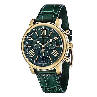 Thomas Earnshaw, 43 ES-0016-09-parquet horloges montre-bracelet, homme, affichage analogique, bracelet cuir vert