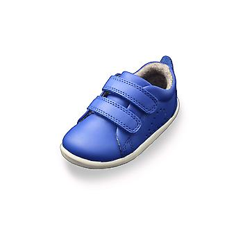 Bobux step up grass court sapphire blue trainer shoes