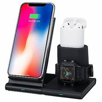 Bakeey 3 in 1 magnetic 10w qi fast wireless charger dock pad stand holder for iphone airpods for apple watch