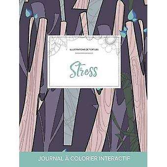 Journal de coloration adulte Stress Illustrations de tortues Arbres abstraits by Wegner & Courtney