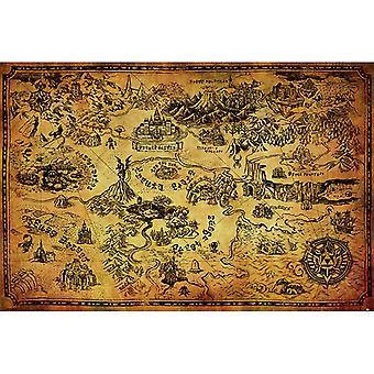 Zelda Hyrule Kartta Karta Maxi Juliste
