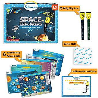 Skillmatics Space Explorers Write & Wipe Activity Pack Ages 6 Years+