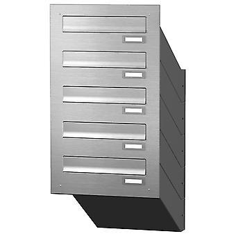 Caixa de correio de penetração da parede Max Knobloch Caixa expressa MD50-OR-E aço inoxidável (5 x 12 litros)