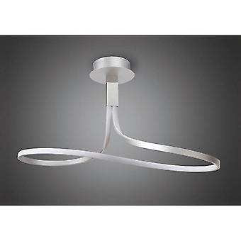 Nur Semi Ceiling Tall 40w Led 3000k, 3200lm, Dimmable Silver/frosted Acrylic/polished Chrome, 3yrs Warranty