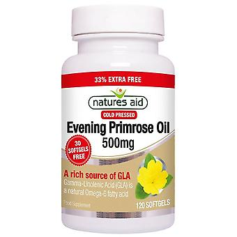 Nature's Aid Evening Primrose Oil 500mg (Cold Pressed) Softgels 120 (13035)