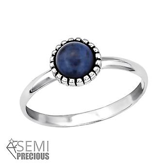 Round - 925 Sterling Silver Jewelled Rings - W30316x