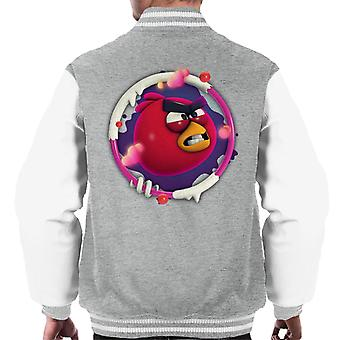 Angry Birds Red 3D Badge Men's Varsity Jacket