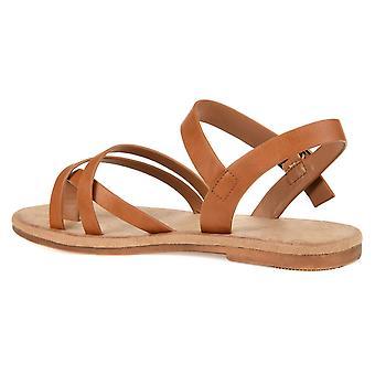 Brinley Co. Donne Strappy caviglia avvolgere sandalo