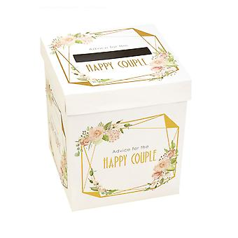 Geo Floral Wedding Wishes Post Box Advice for the Happy Couple