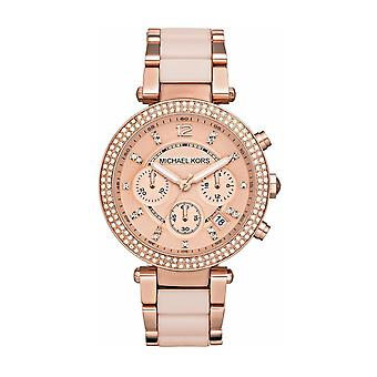 Michael Kors MK5896 Parker Ladies Chronograph Watch - Rose Gold