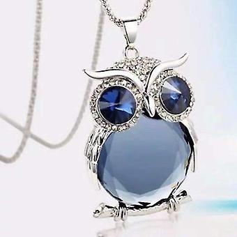 Nachttöne österreichische Kristall Eule Cabochon Halskette drei Farben