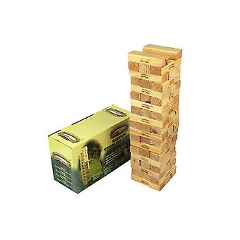 Traditionele tuinspelen houten tumbling Jenga Tower Bricks