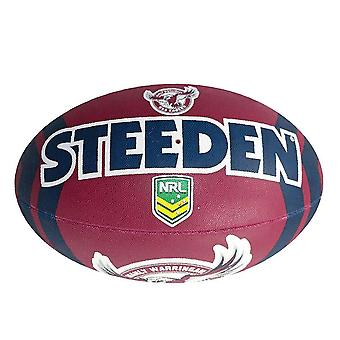 Steeden NRL Manly Warringah Sea Eagles Supporter 2020 Rugby Ball Maroon/Blue