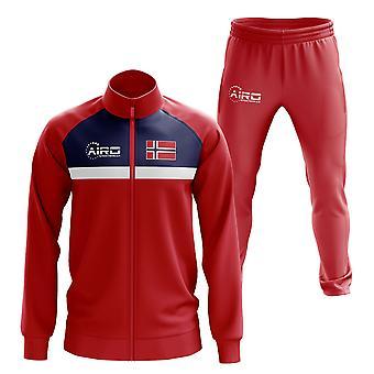 النرويج مفهوم كرة القدم Tracksuit (الأحمر)