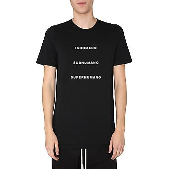 Rick Owens Drkshdw Du20s5250rnep50908 Men's Black Cotton T-shirt