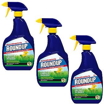 Sparset: 3 x ROUNDUP® Lawn Weed Free AF, 1 litre