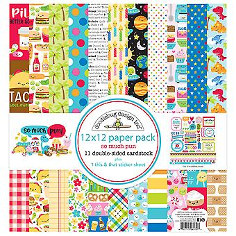 Doodlebug Design So Much Pun 12x12 Inch Paper Pack