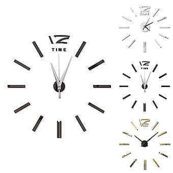 Modern Design Mini 3d Wall Clock Sticker