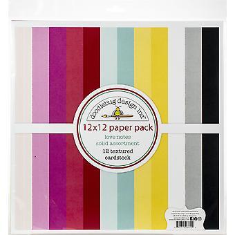Doodlebug تصميم الحب ملاحظات 12x12 بوصة محكم حزمة تشكيلة Cardstock