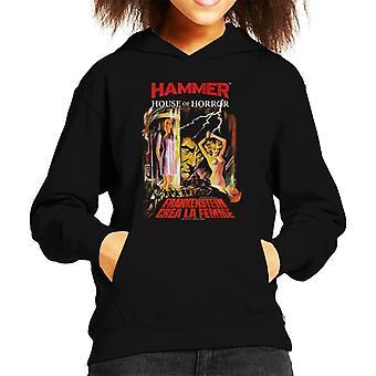 Hammer Frankenstein Crea La Femme Poster Kid's Hooded Sweatshirt