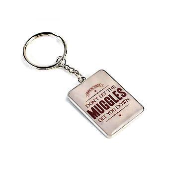 הארי פוטר מחזיקי מפתחות לא נותנים למגלס להוריד אותך מחזיק מפתחות מתכת רשמי חדש
