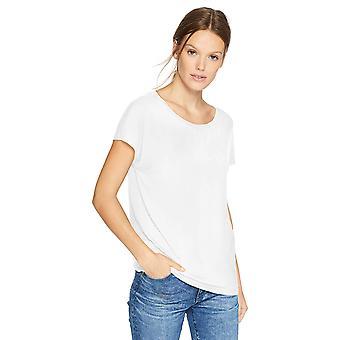 Daily Ritual Women's Jersey Short-Sleeve Boat Neck Shirt, White, X-Large