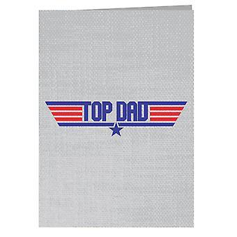 Top Papà Top Gun Logo Biglietto d'auguri