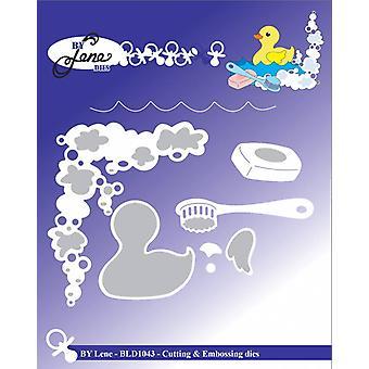 By Lene Baby Duck suihkussa leikkaus & Kohokuviointi Die