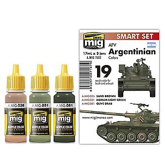Ammo by Mig AFV Argentinian Colours Acrylic Paint Set