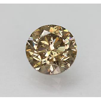 Cert 1.75 قيراط يايل براون SI1 جولة رائعة الماس الطبيعية فضفاضة 7.44mm