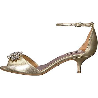 Badgley Mischka Women's Sainte Heeled Sandal, Platino, 7.5 M US