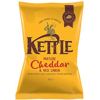 Kettle Mature Cheddar & Red Onion Crisps