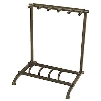 GS7561, 5-Space Foldable Multi Guitar Rack
