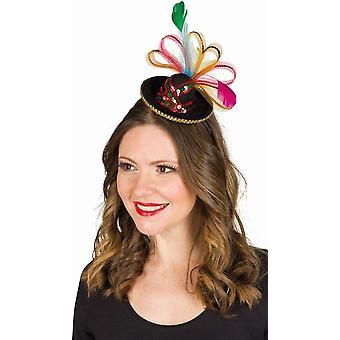 Crazy Mexican Haarreif Hut Sombrero Miniaturhut