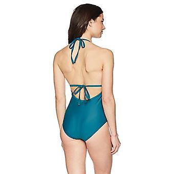 Brand - Coastal Blue Women's One Piece Swimsuit, Jaded, S