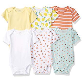 Essentials Girls' Baby 6-Pack Short-Sleeve Bodysuit
