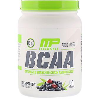 MusclePharm, Essentials, BCAA, Blue Raspberry, 0.99 lb (450 g)
