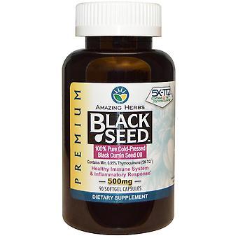Amazing Herbs, Black Seed, 500 mg, 90 Softgel Capsules